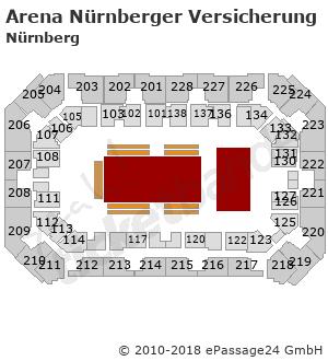 Sitzplan Saalplan Hallenplan Arena Nurnberger Versicherung In