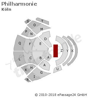 Sitzplan Saalplan Hallenplan Philharmonie In Köln Deutschland