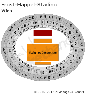 Sitzplan Saalplan Hallenplan Ernst Happel Stadion In Wien