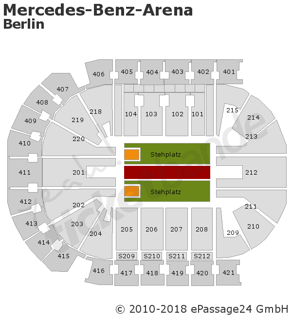 U2 biglietti per berlino mercedes benz arena for Hotels near mercedes benz stadium
